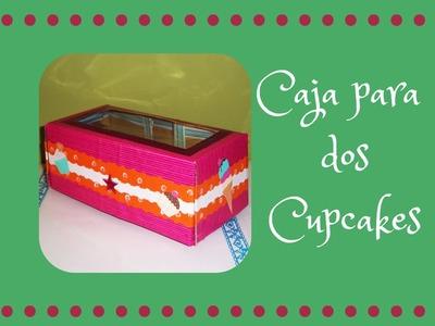 Caja para dos cupcakes