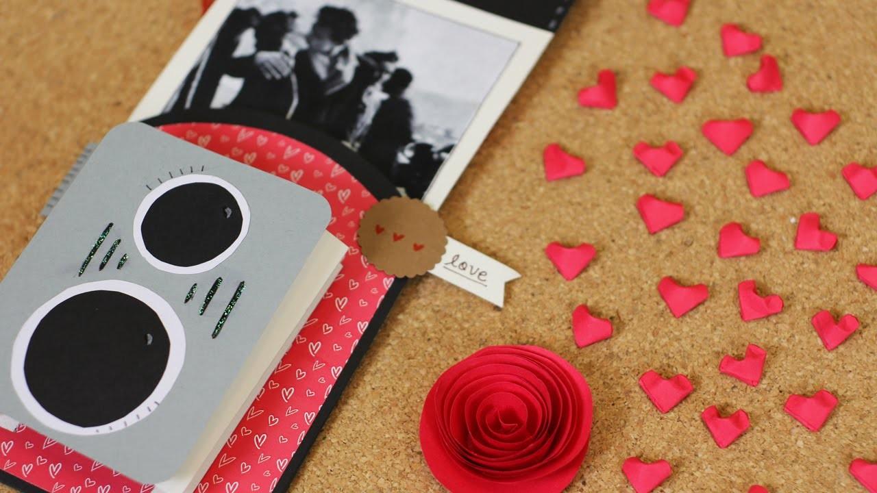 Cámara retro. tarjeta de San Valentín - manualidad de papel
