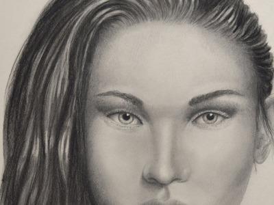 Cómo dibujar una cara realista con carboncillo y lápiz - Arte Divierte.