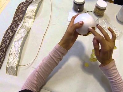 Como hacer esferas navideñas de manera muy fácil