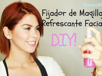 Como hacer Fijador de Maquillaje.Refrescante Facial!-DIY-Mon