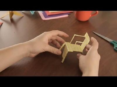 Como Hacer Sillas de Playa de Papel : Proyectos de Arte en Papel