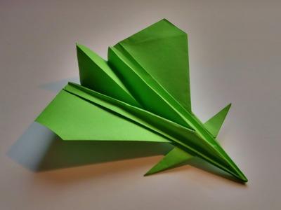 Como hacer un avion de papel realista que vuela