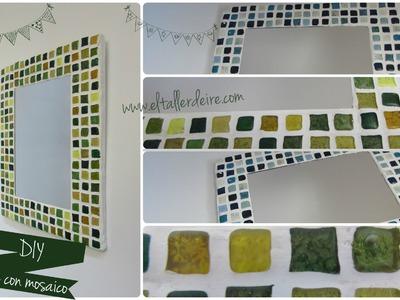 Cómo hacer un espejo con mosaico