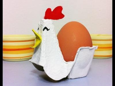 Cómo hacer una gallina huevera de Pascua con cartón (Tutorial DIY)