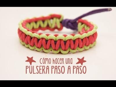 Cómo hacer una pulsera con cordones