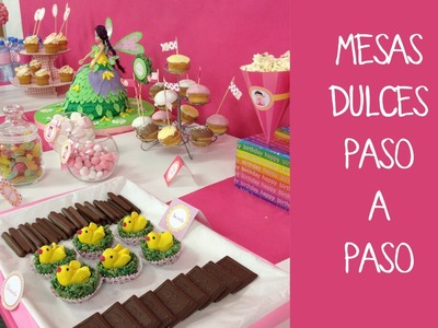 Cómo preparar una mesa dulce para fiesta infantil