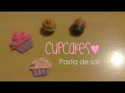CupCakes con Pasta de sal | 3 Maneras de pintar tus figuras | Figuras de masa flexible
