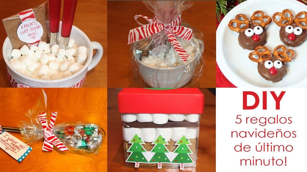 DIY- 5 regalos navideños de último minuto!
