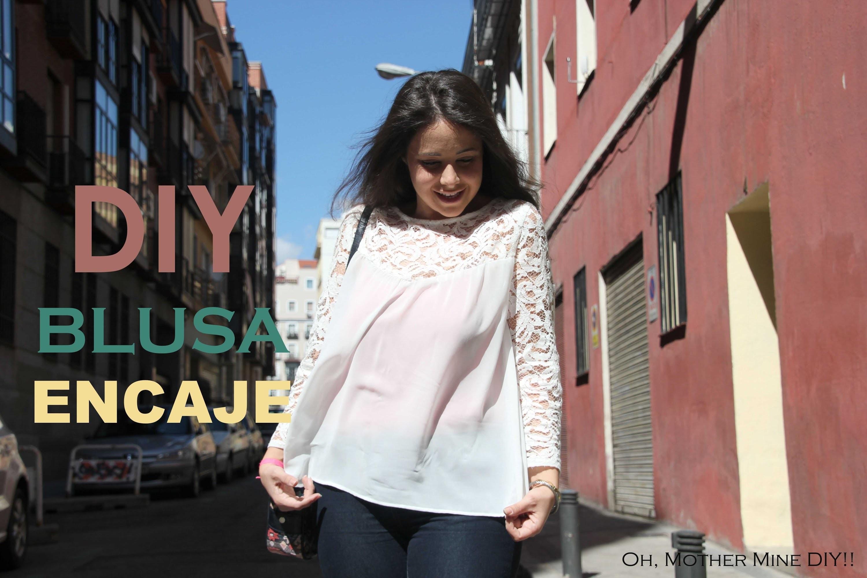DIY Blusa de gasa y encaje (patrones gratis de ropa mujer)
