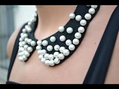 ♥DIY♥ como hacer nuestro propio collar tipo babero#tendencia#
