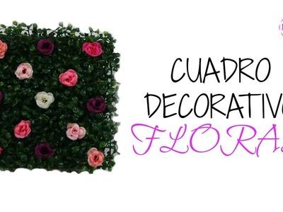 DIY: Hermoso Cuadro Decorativo Floral Por Fantasticazul