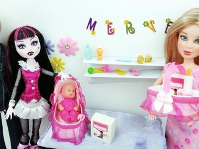 Haz un cuna portátil o Moisés y una cesta o canasta para bebes - Manualidades para  muñecas