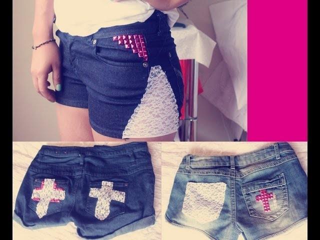 HTM: Tres formas de decorar shorts con encaje