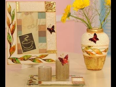 Lacas, craquelado y foil - Marcos para cuadros - Vasijas en ceramica - Delia Di Giorgio