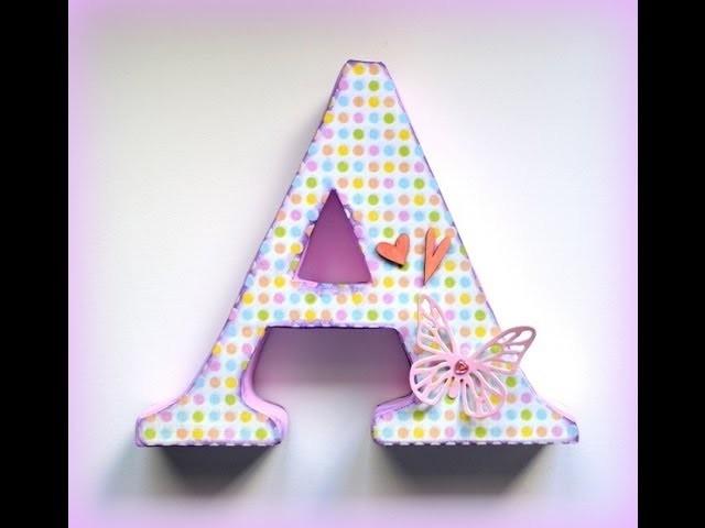 Letras decorativas de cartón ¡Más fácil! - Cardboard letters made easier