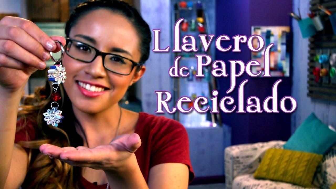 Llavero de Papel Reciclado - Crafting Studio