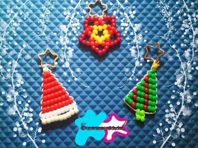 Llaveros Navideños (pino, nochebuena, gorrito navideño) ❄ SUPERMANUALIDADES❄