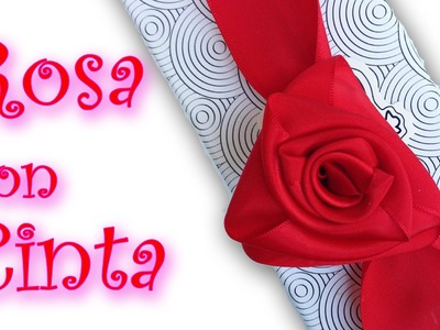 Manualidades: cómo hacer una Rosa con cinta - Manualidades para todos