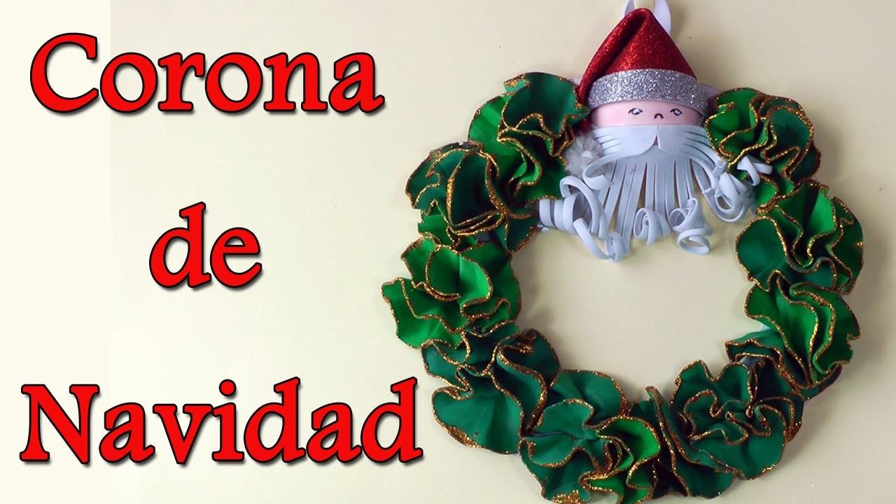 Manualidades de navidad corona de navidad manualidades - Manualidades de navidad ...