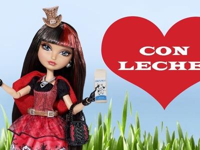 Manualidades para muñecas: Cómo hacer contenedor de Leche o Jugo para muñecas