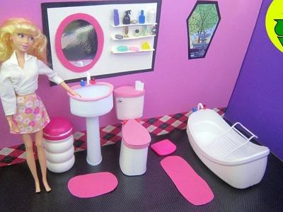 """Manualidades para muñecas: Cómo hacer un lavabo """"de verdad """" para tu muñeca"""