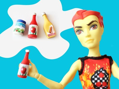 Manualidades para muñecas: Haz condimentos para tus muñecas: ketchup, mostaza, mayo