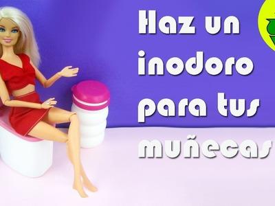 """Manualidades para muñecas: Haz un inodoro o sanitario """"de verdad"""" para tus muñecas"""