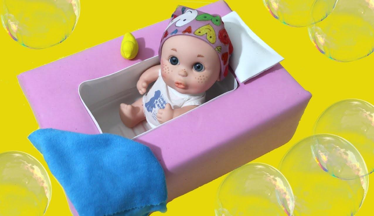 Manualidades para muñecos: bañera. Bath for dolls diy
