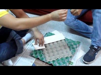 Marco Espejo Con Cajas de Huevo