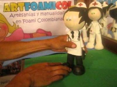 MUÑECO FOFUCHO 3D MEDICO DOCTOR CON CORBATA Y FONENDO Del Catalogo Artfoamicol