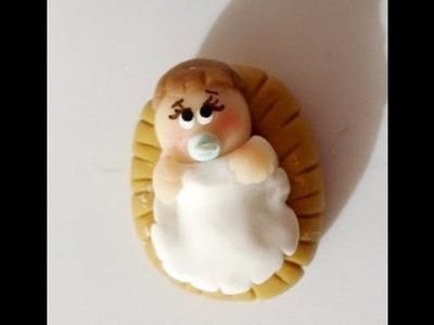 Nacimiento Navideño porcelana fria paso a paso - Niño dios - Pesebre