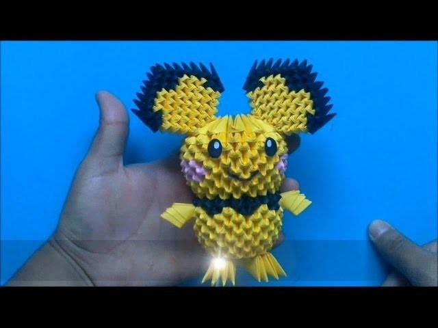 Origami 3D Pichu (Pokemon)