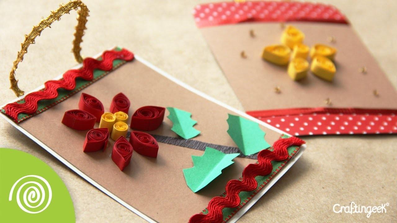 Tarjeta Filigrana - Adorno para Navidad.  Quilling