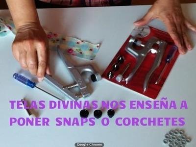 Tutorial para poner Snaps, Corchetes o Broches Automáticos. en Español.