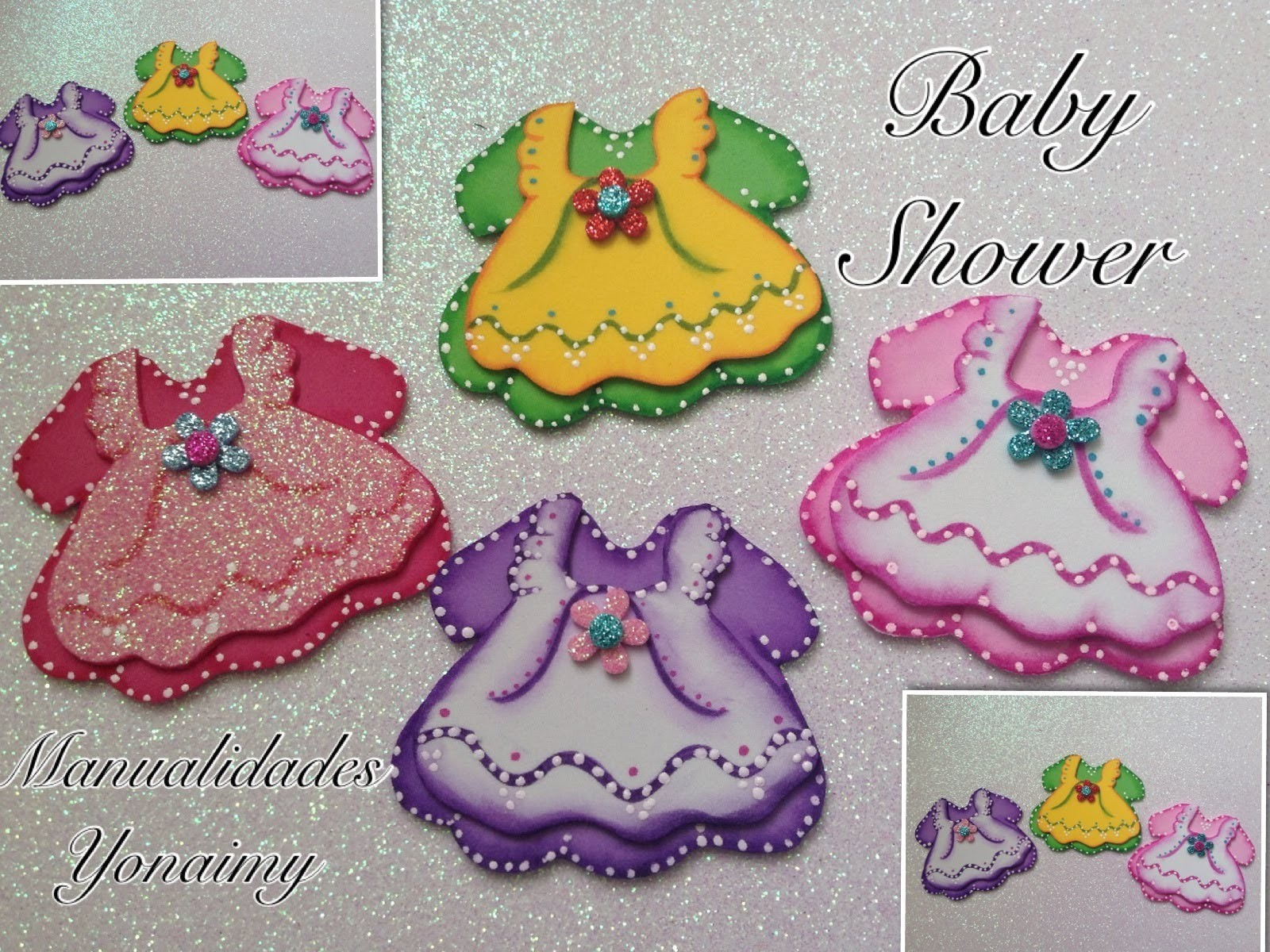 VESTIDITOS  DOBLES  PARA  BABY  SHOWER