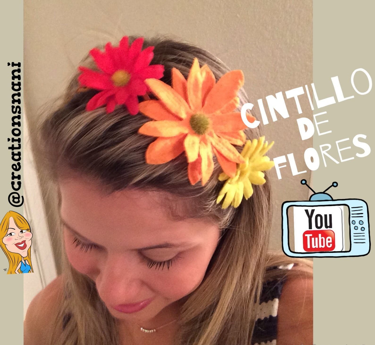 Cintillo de flores - Flower Headbands | Creations Nani