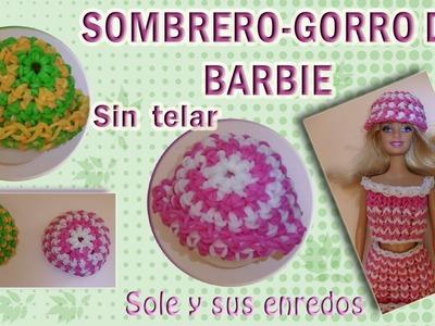 Cómo hacer un Sombrero para muñecas Barbie sin telar con gomitas elásticas