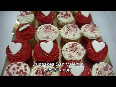 Cómo hacer wrappers para cupcakes de San Valentín