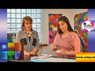 Cómo pintar con acrílico con texturas de gesso
