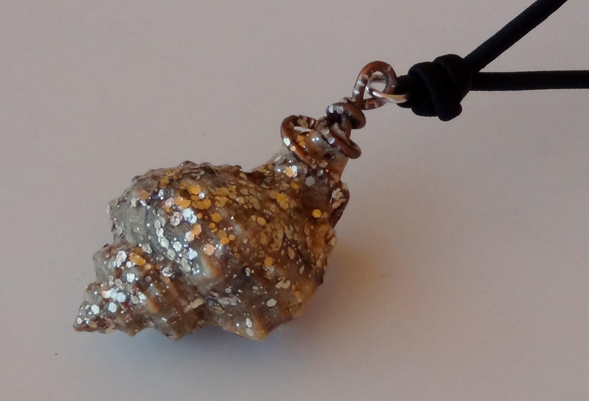 Cómo realizar un colgante para un collar con una caracola de mar - Necklace with a seashell