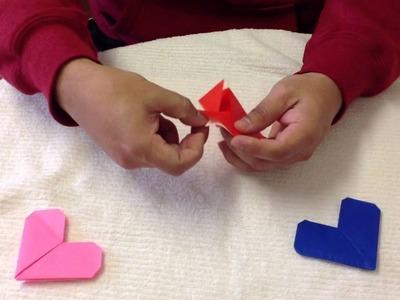 Corazones de papel - Decoración para San Valentín
