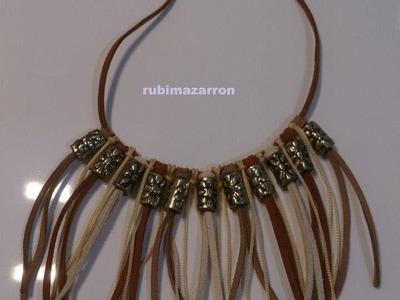 DIY: Como hacer un collar Indio