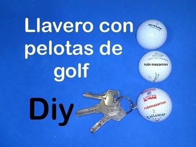 Diy.  Llavero con pelotas de golf