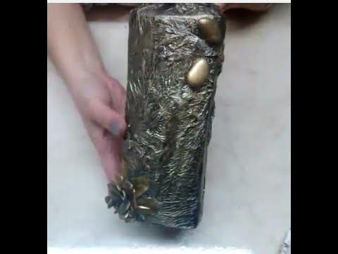DIY Transformando envases de shampoo. How to make a vase out of shampoo bottle