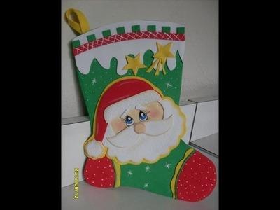 Especial Artfoamicol Botas navideñas en foami Goma eva y Pesebres,Nacimientos,portales Fofuchos.wmv