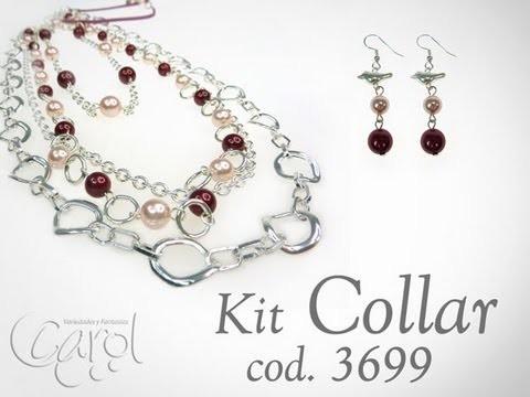 Kit 3699 Kit collar cadena y perlas x und