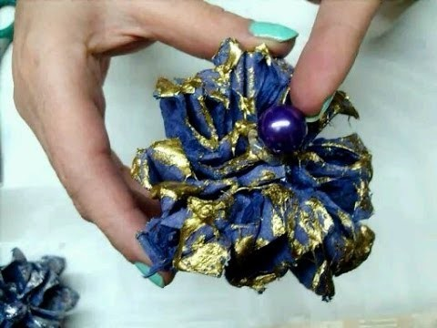 Manualidades DIY Flor hecha de cartón de huevo (2). Flower from egg carton