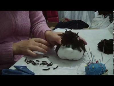 Muñecos soft . peluca para muñeca (rodete). proyecto 150