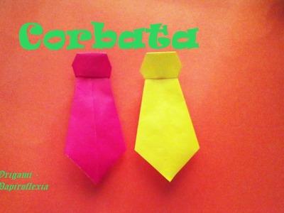 Origami - Papiroflexia. Corbata muy fácil de hacer